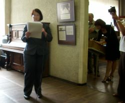 Sovetsk Tilsit Opening of Exhibition