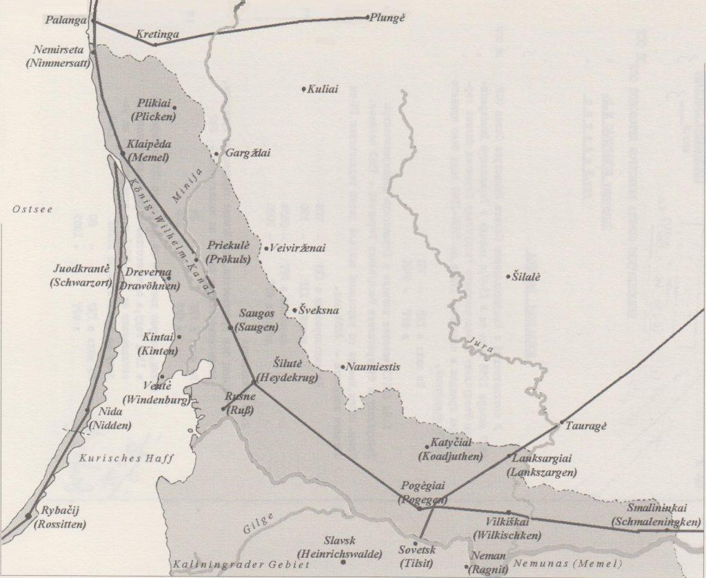 Kurische Nehrung Karte.Landkarten Jews In East Prussia