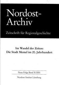 Stadt Memel Nordost-Archiv