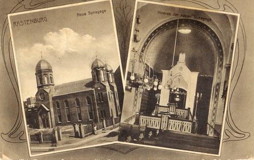 Post Card Symagogue Rastenburg