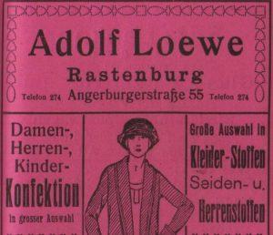Advertising Adolf Loewe