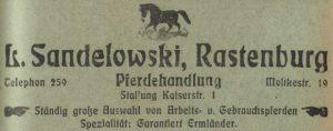 Ad Horse Trader Sandelowski