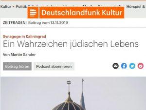 Deutschlandfunk Beitrag Sander