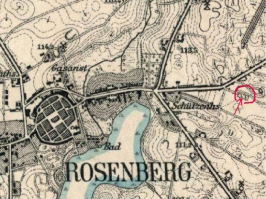 Map Roseberg Jewish site