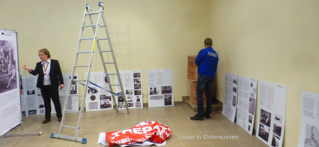 Setting up an exhibition in Kaliningrad