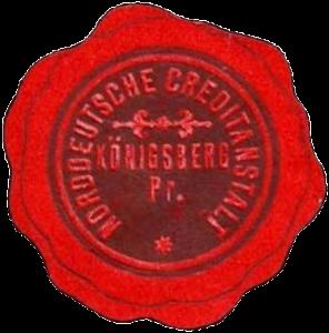 Seal Norddeutsche Creditanstalt Königsberg