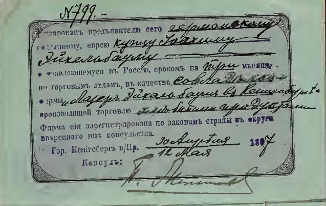 Passport Visum Eichelbaum