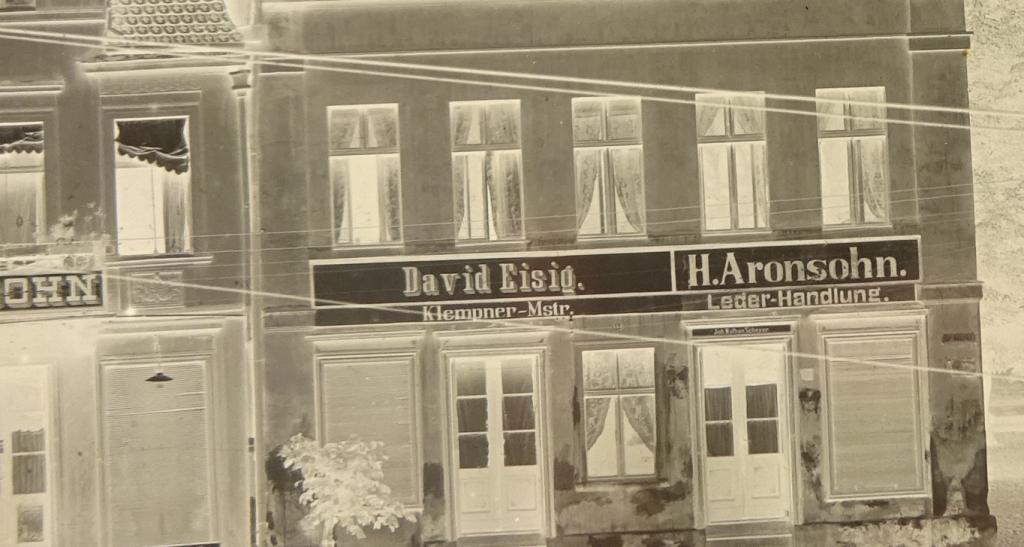 Jewish shops in Strassburg Westpreussen