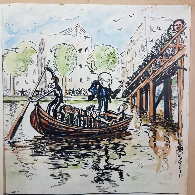 Boot auf Schlossteich