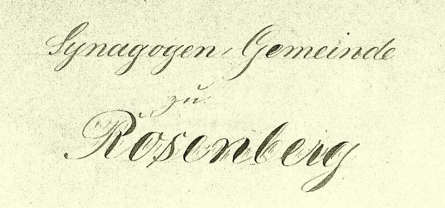 Kehila Rosenberg West Prussia