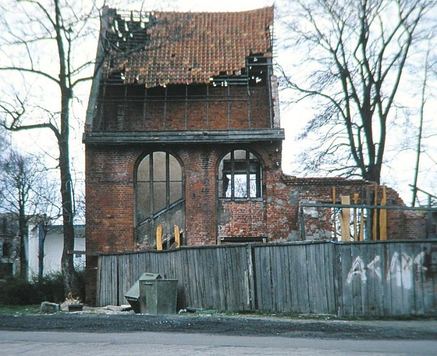 Cranz ruin of synagogue