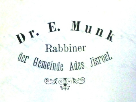 Munk Rabbiner Briefkopf