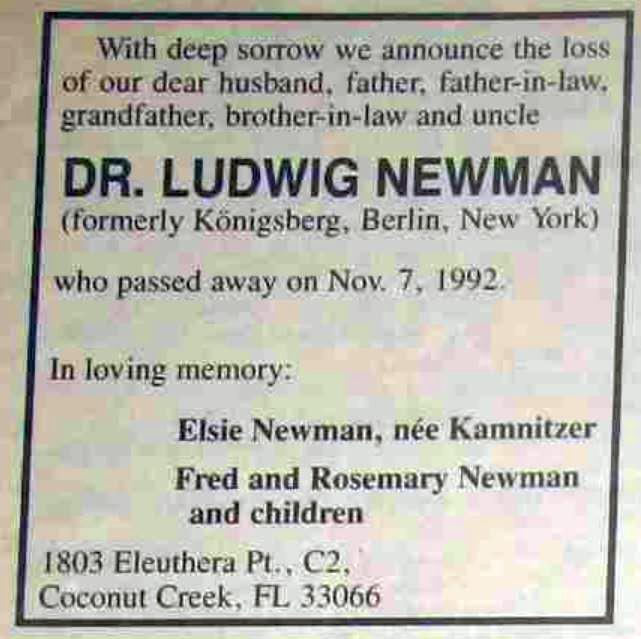 Anzeige Aufbau Newman